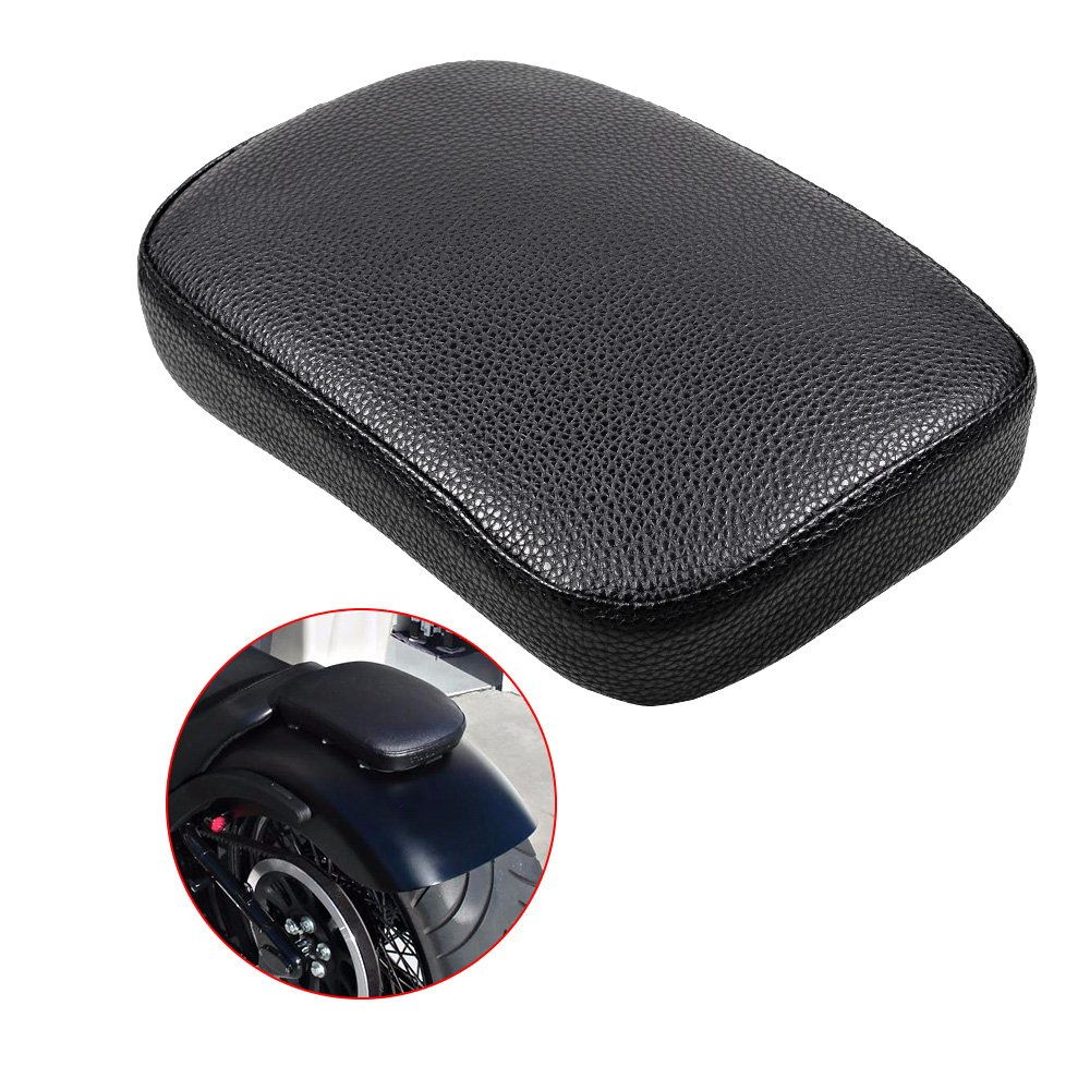 Astra Depot Rectangular Pillion PASSENGER Pad Seat 6 Suction Cup For HARLEY Custom Chopper Bikes