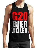 Toll G20 Bier Holen Tank Top Neu Polit Punk Politik Riot Fun Sprüche Message  Beer Alk