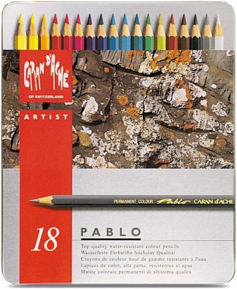 Caran d-Ache Pablo 18 - Lápiz de color Gris, Multi