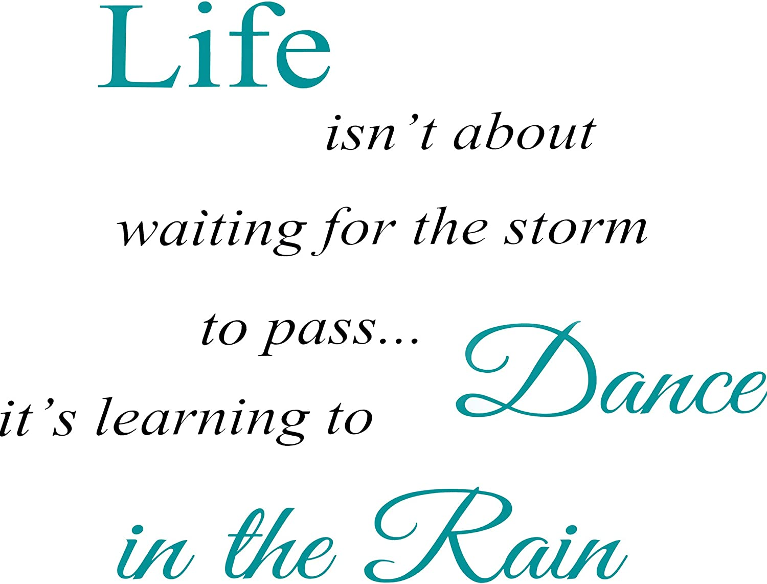Inspirational Quotes Vinyl Wall Decal Stickers - Dance in The Rain Sayings Decals Inspirational