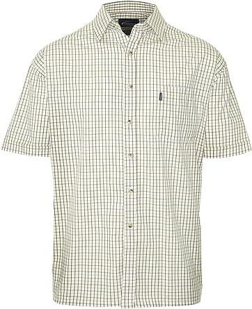 Walker & Hawkes – Camisa de manga corta para hombre en estilo country – con porcentaje de algodón – fácil de limpiar – cuadriculado: Amazon.es: Ropa y accesorios