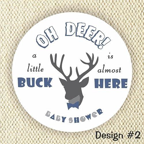 Amazon Oh Deer Baby Shower Stickers Little Buck Stickers