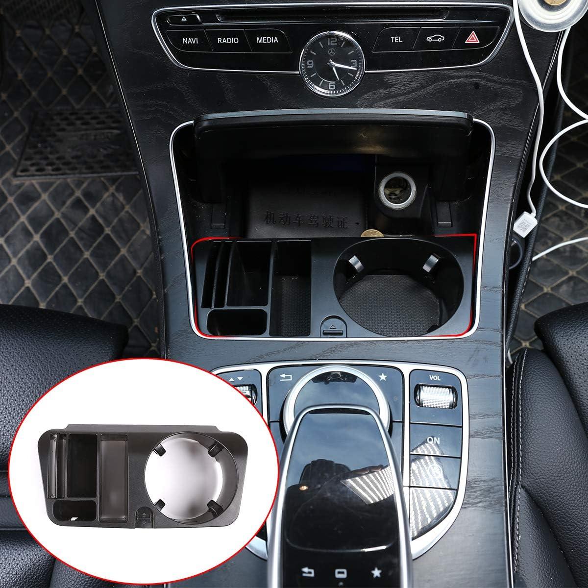 Kunststoff Mittelkonsole Armlehnen Aufbewahrungsbox Becherhalter Für Benz E C Glc Klasse W213 X253 W205 2015 2020 Auto