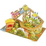 Achterbahn Eltern-Kind-Spiele 3D Puzzle Pädagogisches Spielzeug zusammengebaute