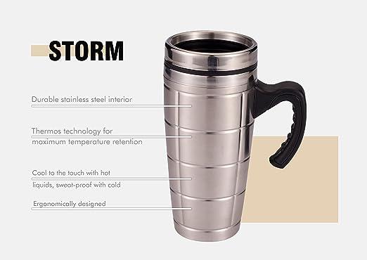 Taza térmica de viaje - Termo de café de acero inoxidable doble ...