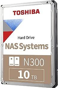 Toshiba N300 10TB NAS 3.5-Inch Internal Hard Drive- SATA 6 Gb/s 7200 RPM 256MB (HDWG11AXZSTA)