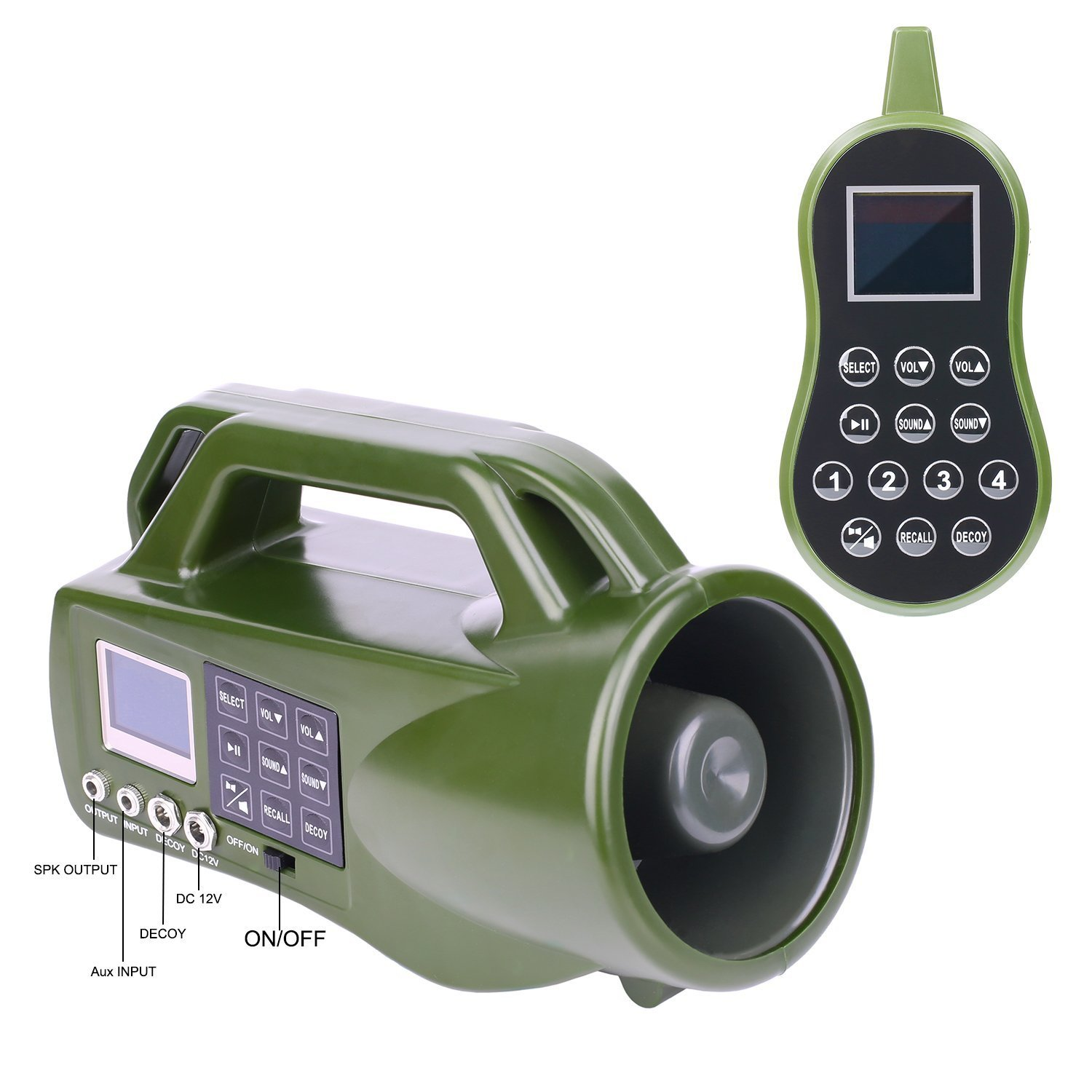 HKCYSEA Hunting Bait Caller 400 Songs Outdoor MP3 Player LCD Screen Loud Speaker With Wireless Remote Control Wildlife Decoy Game Predator by HKCYSEA (Image #3)