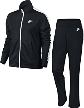 Nike W NSW TRK Suit PK OH Chándal, Mujer, Negro (Black/White
