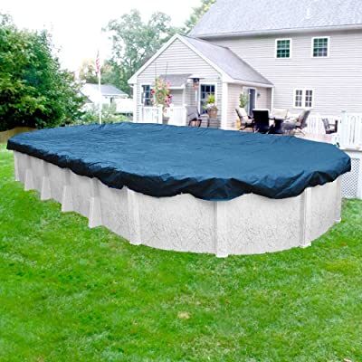 Durable Winter Pool Cover for Oval Above Ground Swimming Swimming Pool (Blue) Picture