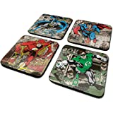 DC CSP0011 Originals Batman/Superman/Flash/Green Lantern Coaster Set (4-Piece)