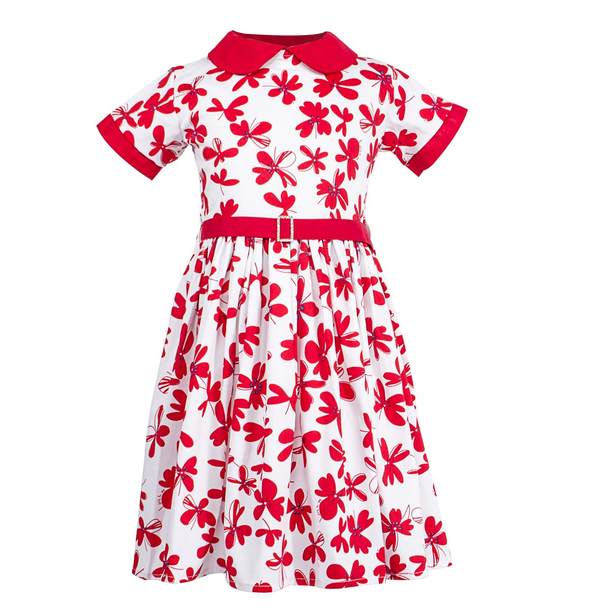 d6155a5b83dea Doll collar cute dresses for girls,fit and attractive.Print Dress let your  girls more fashionable and beautiful