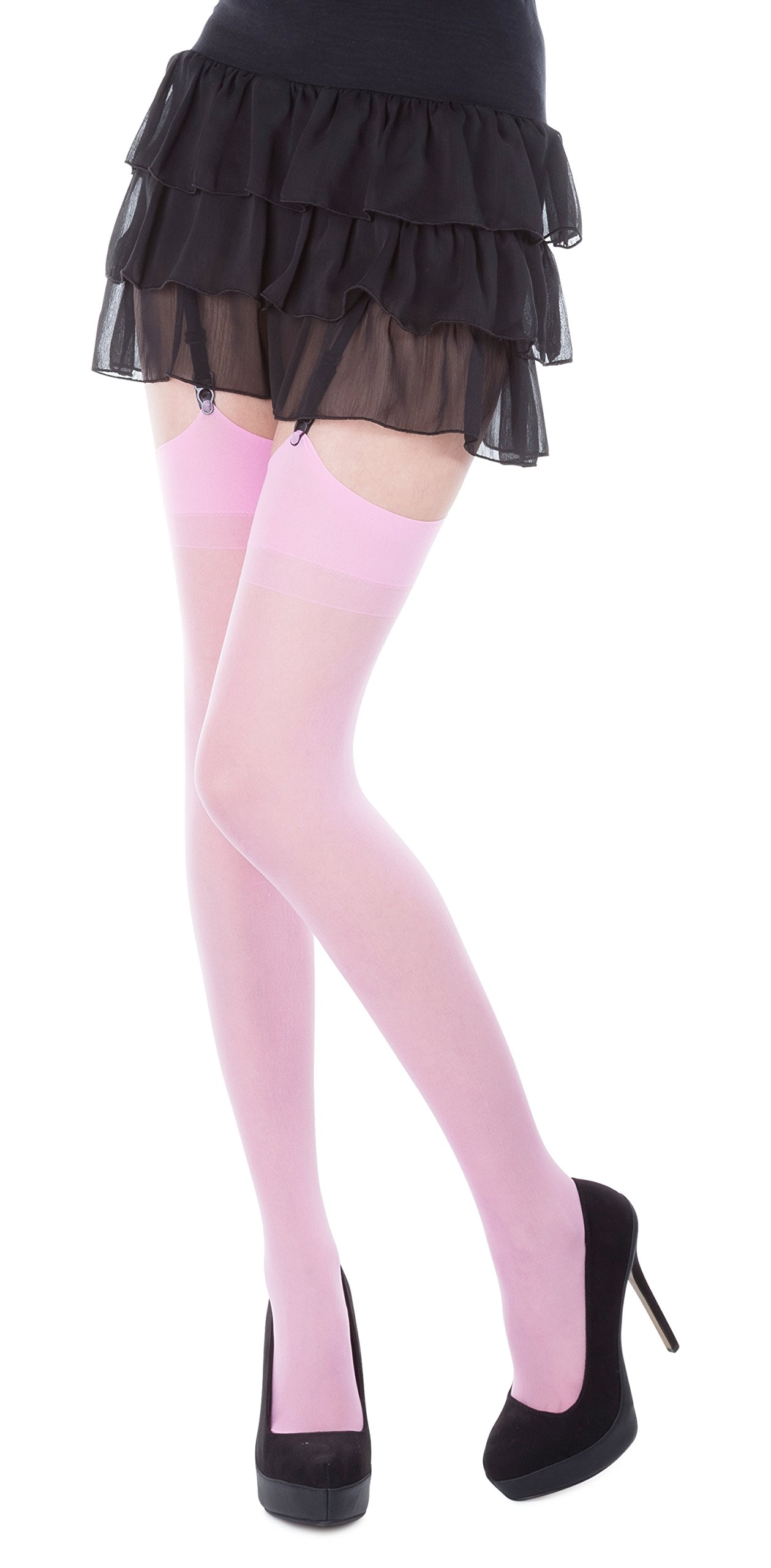Plain Top Sheer Stockings by Romartex,Regular Size & Plus Size,Various Colours