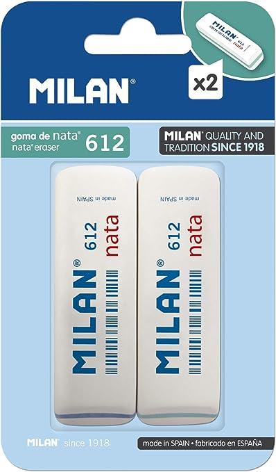 Milan BPM9208 - Pack de 2 gomas de borrar: Amazon.es: Oficina y ...