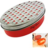 Latest Cheese Grater - Lifetime Replacement Warranty - Rated Top Food Grater With Storage Container - Perfect For Hard & Soft Cheeses, Ginger, Vegetables - Invented To Solve Your Cheese Grating Needs