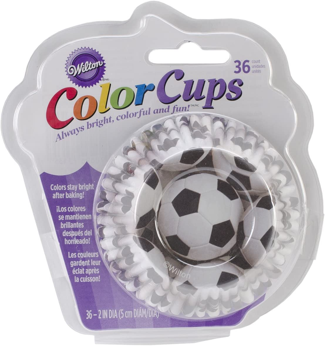 Wilton Standard Baking Cups Soccer Color 415-2135