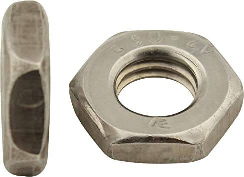 M4 Flachmuttern Edelstahl A4-40 DIN 439 Sechskantmuttern niedrige Form