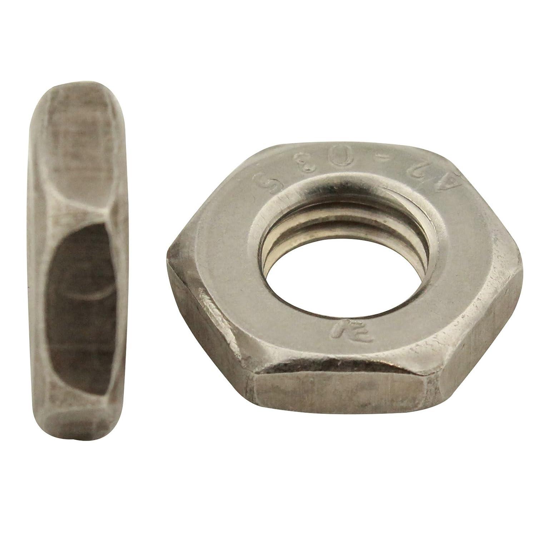50 St/ück - M10 - niedrige Form - SC439 - DIN 439 // ISO 4035 rostfreier Edelstahl A2 SC-Normteile Sechskantmuttern V2A
