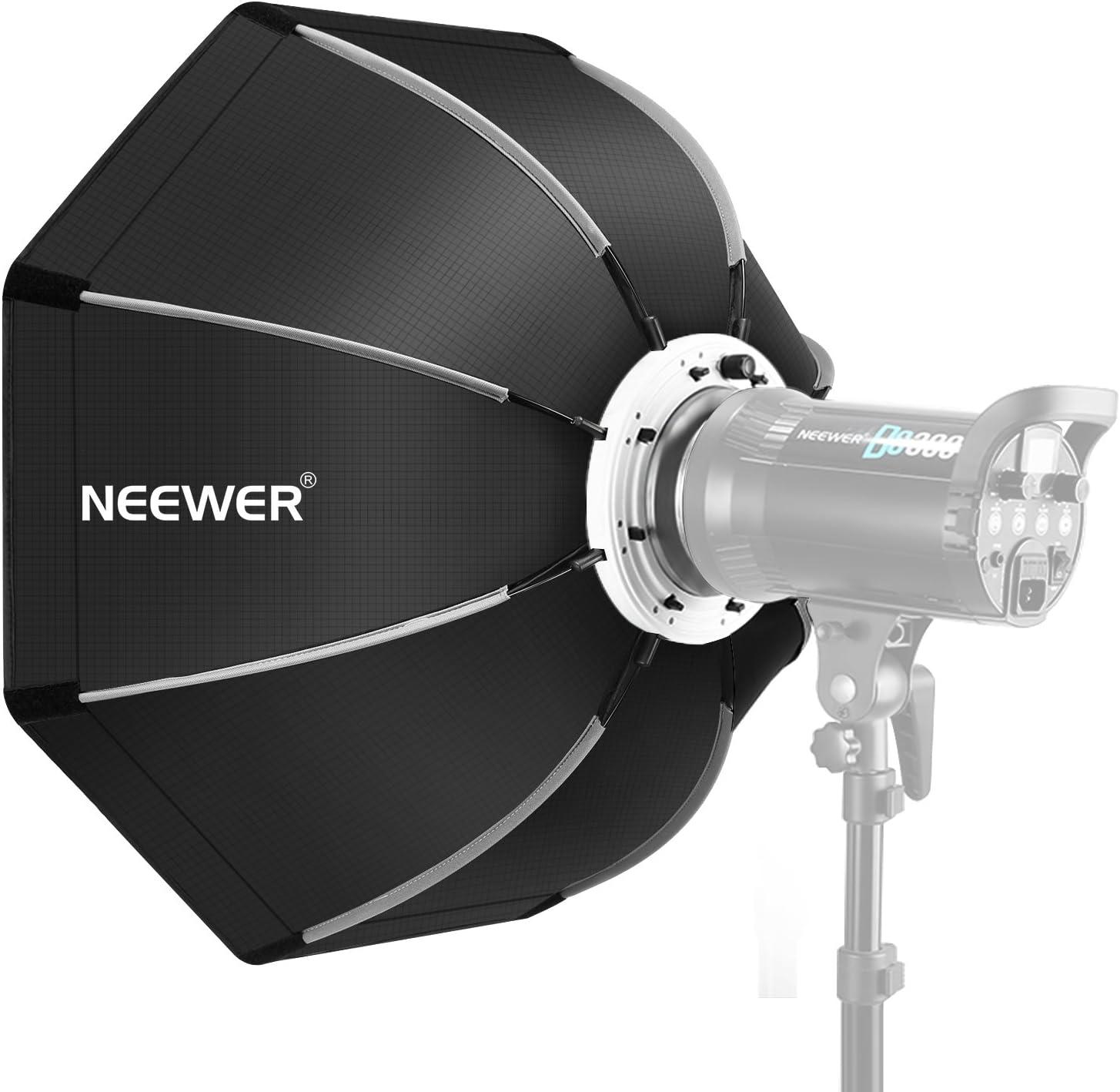 Neewer 65 Centímetros Softbox Octogonal Plegable con Bowens Montura Speedring, Maleta de Transporte para Speedlite Estudio Flash Monoluz, Retrato y Fotografía de Producto