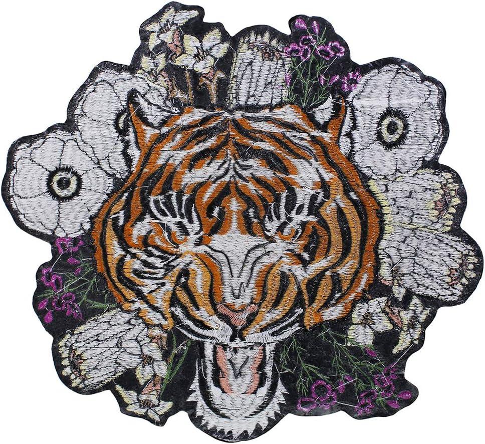 EMDOMO - Parche de Tela para Chaqueta de Ropa, diseño de Flores de ...