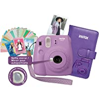 Fujifilm Instax Mini 9 Instant Camera Bundle - Smokey Purple