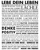 Motivational - Lebe Dein Leben Motivations Mini Poster Plakat Druck - Grösse 40x50 cm