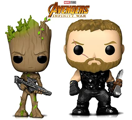 Amazon.com: Funko POP Marvel infinity Guerra Thor y Groot ...