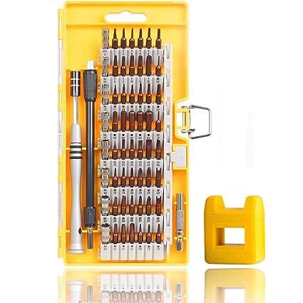 60 en 1 Destornillador de Precisión, Kit de Herramienta Profesional con 56 Puntas Magnéticas para Todos los Tornillos, Móvil, Computadora, Xbox, iPad, ...