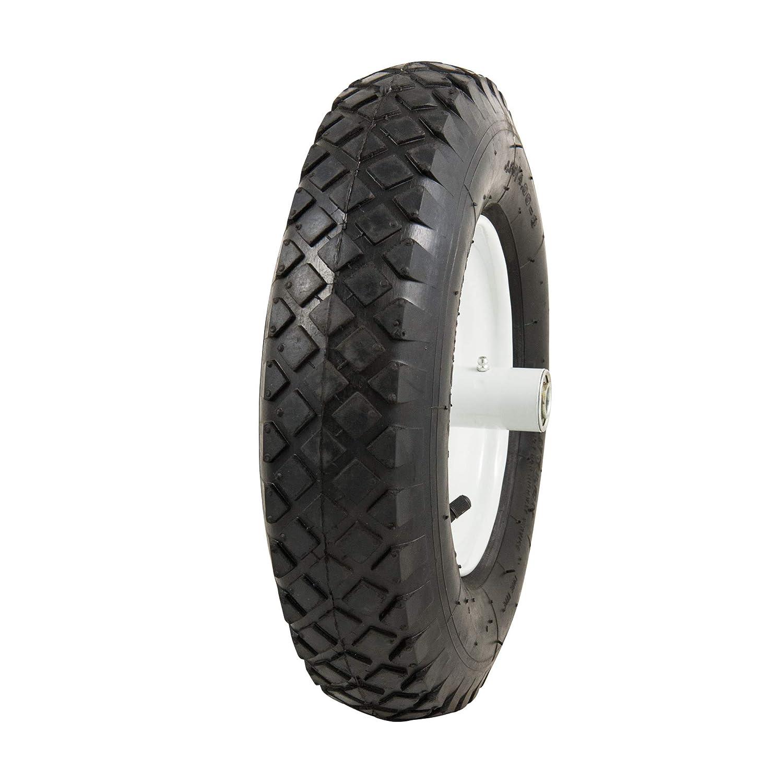 "Marathon 4.80/4.00-8"" Pneumatic (Air Filled) Tire on Wheel, 6"" Hub, 5/8"" Bearings, Knobby Tread"