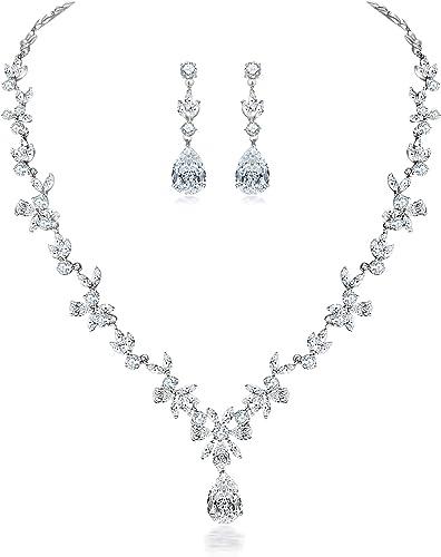 Rose gold pearl bridal set pearl wedding jewelry zirconia wedding set rose gold wedding jewelry rose zircon jewellery bridal jewellery