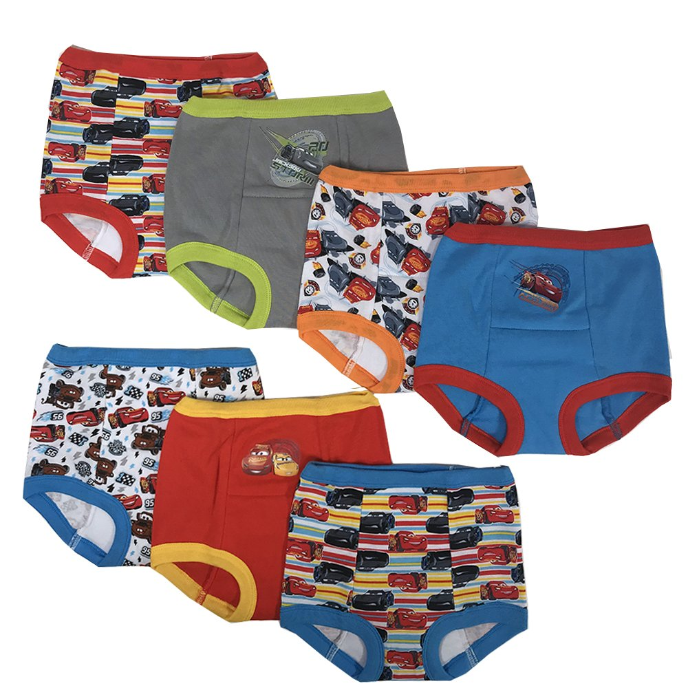 Disney Boys' Toddler Cars 7 Pack Training Pants, Assorted, 3T by Disney