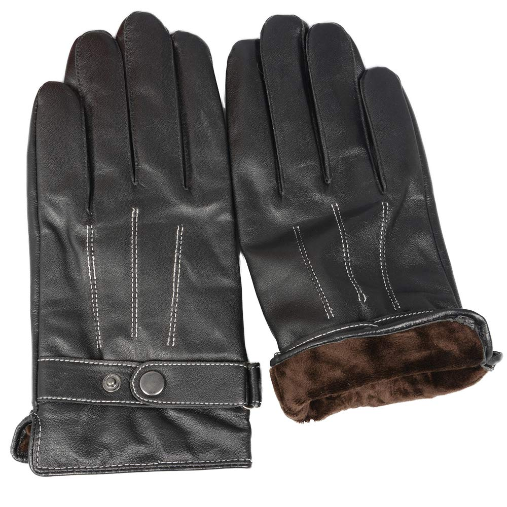 Jancoco Max Real Sheepskin Leather Gloves Mens Touch Screen Driving Gloves