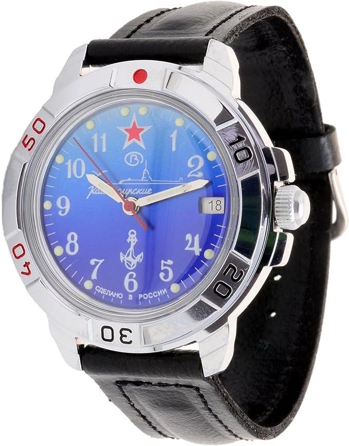 Amazon.com: Vostok Komandirskie Military Russian Watch U-Boot Submarine Blue 2414/431289: Watches