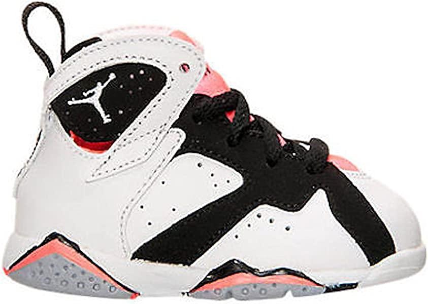 1e92f38e393 ... Shoe 5 Infants US. Nike Jordan Toddlers Jordan 7 Retro GT  White/White/Black/Hot Lava Basketball