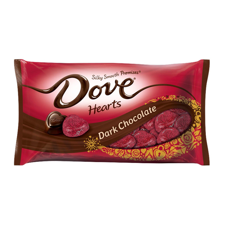 Amazon.com : DOVE PROMISES Valentine Dark Chocolate Candy Hearts ...