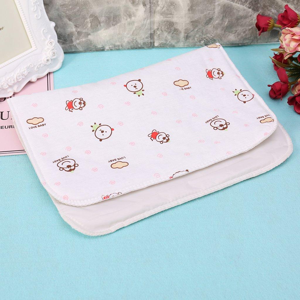 Rose Guoyy B/éb/é tapis /à langer r/éutilisable imperm/éable /à leau poussette couche pliage tapis mou lavable