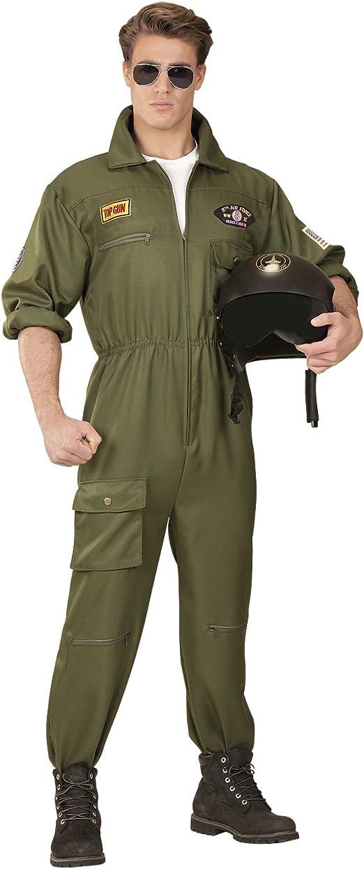 Partypackage - Disfraz de piloto de Combate para Hombre, Talla ...