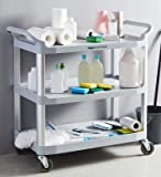 AmazonCommercial 3 Shelves Utility Cart with 400