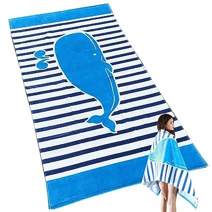Uniuooi Toalla de baño de playa para niños y niñas, 100 % algodón, muy