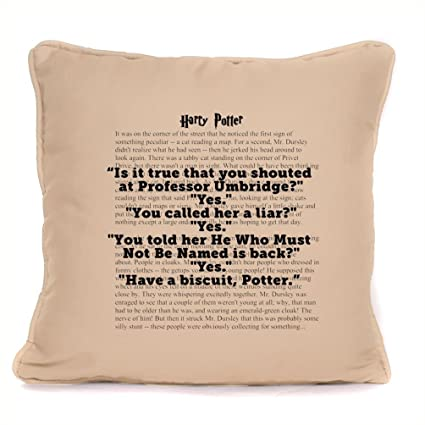 Amazon Harry Potter Inspired Quote Cushion Pillow Cover 18x18