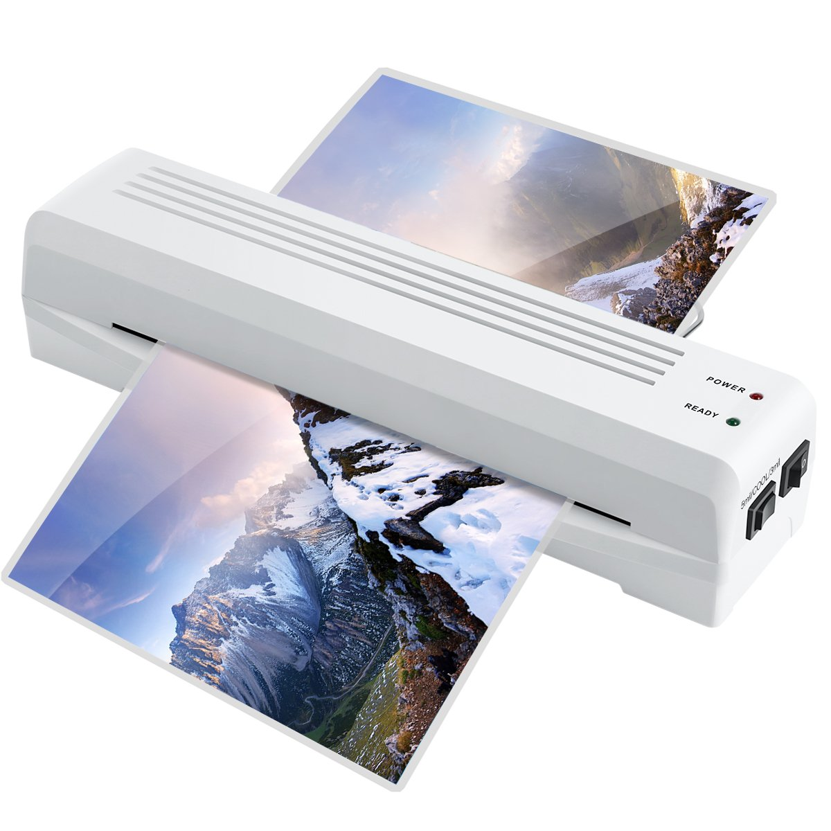 Thermal Laminator, Laminating Machine for A4 A6 with 2 Rollers System, Jam Release Switch Function, Low Noise Fast Warm-up Laminating Speed for Home Office School by Leyeet
