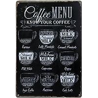 Pixnor Menú café sabe su café Metal estaño