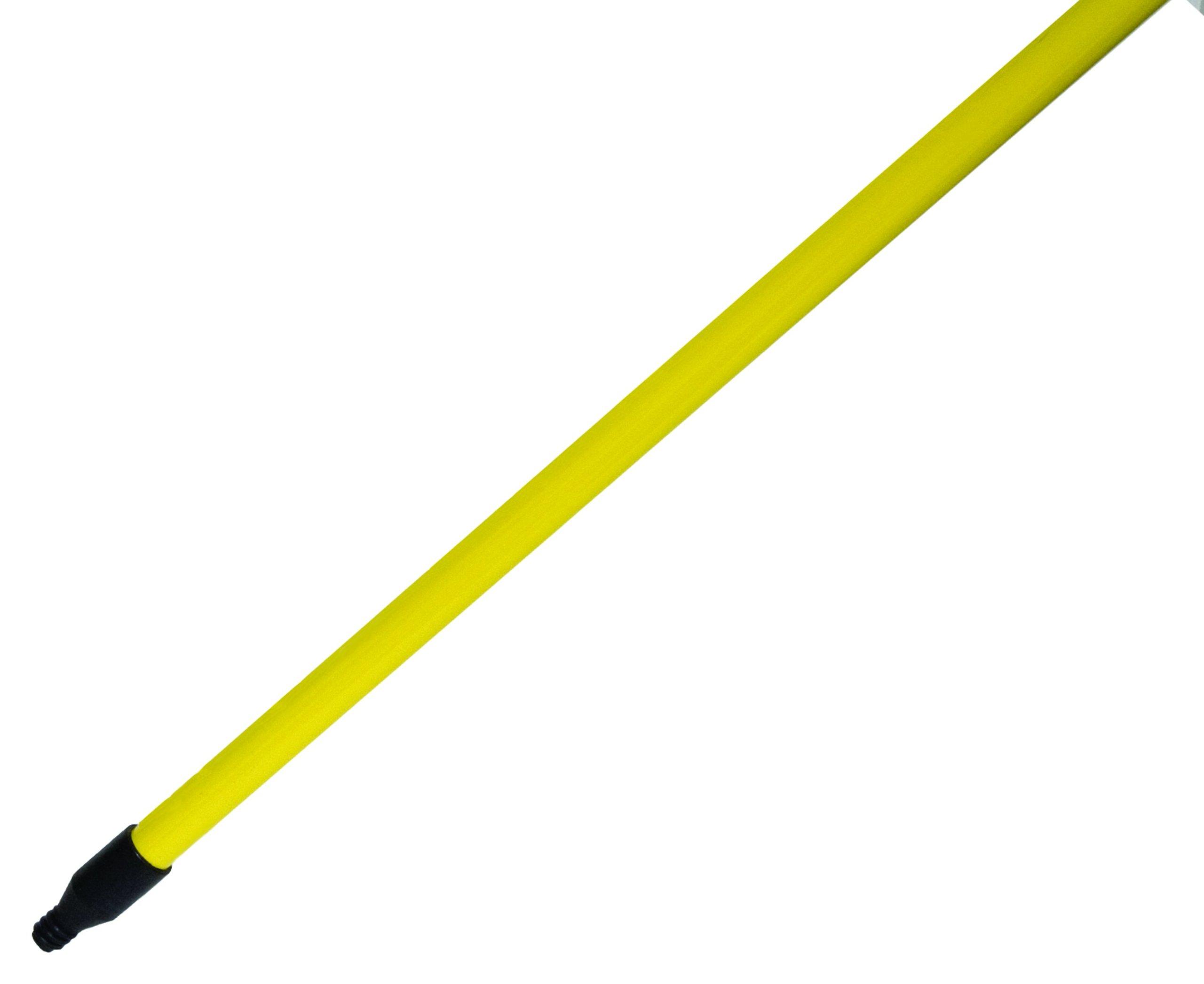 Magnolia Brush EC-FG60 Fiberglass Economy Handle, 1'' Diameter x 60'' Length, Yellow (Case of 12)