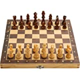 """15"""" x 15"""" Magnetic Wooden Folding Chess Set with 2 Extra Queens, Handmade Game Board Interior for Storage for Adult Kids…"""