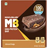 MuscleBlaze Protein Bar (10g Protein), 6 Piece(s)/Pack Almond Fudge