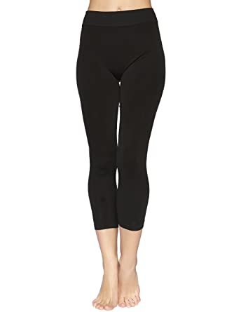 Reypo Women's Seamless Capri Leggings (Black (2-Pack)) at Amazon ...