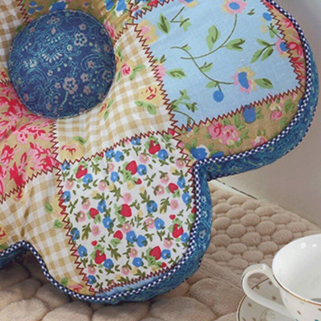 Wddwarmhome 40cm PP Coton Coussin Bleu Coussin Coussin Y7fgb6y