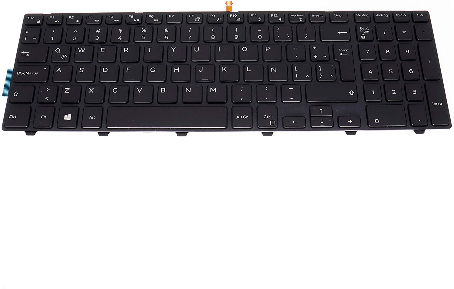 LeFix Latin LA Spanish Backlit Keyboard (with Frame) for Dell Inspiron 15 3542 3543 3551 3552 5542 5545 5547 5755 5551 5558 5552 5758 5759 7557 7559 5559| 17 5000 5748 5749 5755 5758 5759 Series