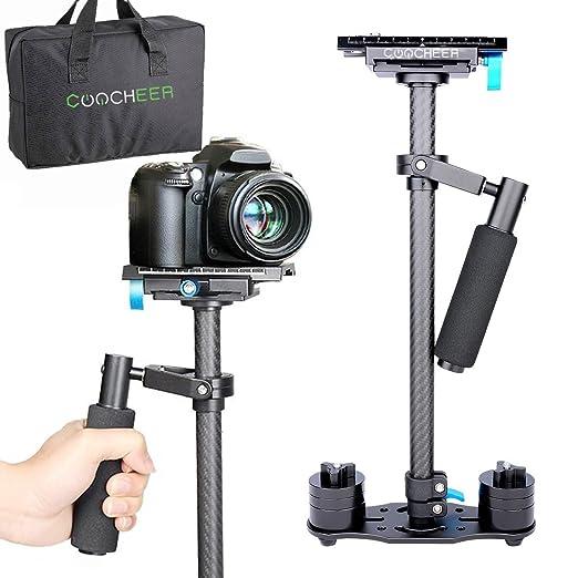 COOCHEER Handheld Estabilizador de la cámara, asa en forma con ...