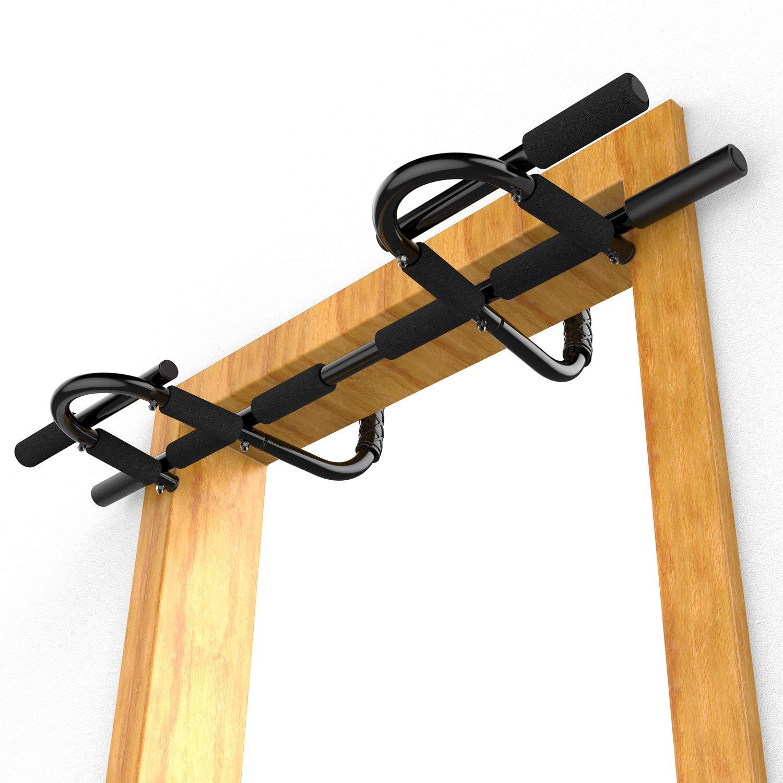 Sportneer チンニングバー ドア用 懸垂バー 懸垂マシン ドア枠に引っ掛けるだけ 筋トレ 背筋 腹筋 腕立て ディップス 懸垂 エクササイズ 自宅 トレーニング マルチエクササイズ「ALL in 1」センターバー 耐荷重150kg