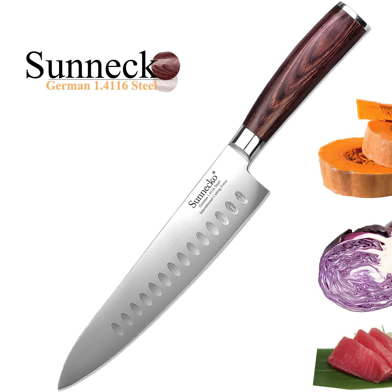 Compra Cuchillo de Cocinero 20cm - Sunnecko Cuchillo de ...
